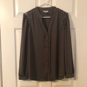 Gray Loft blouse